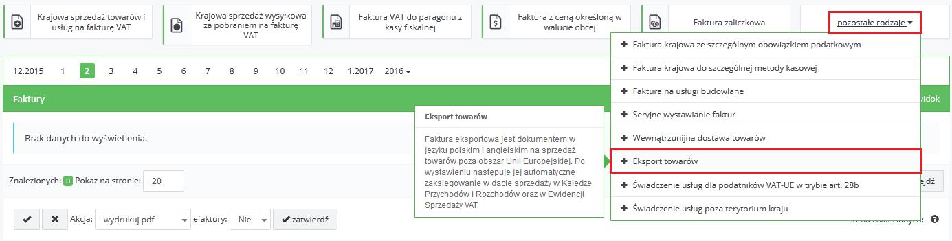 eksport towarów