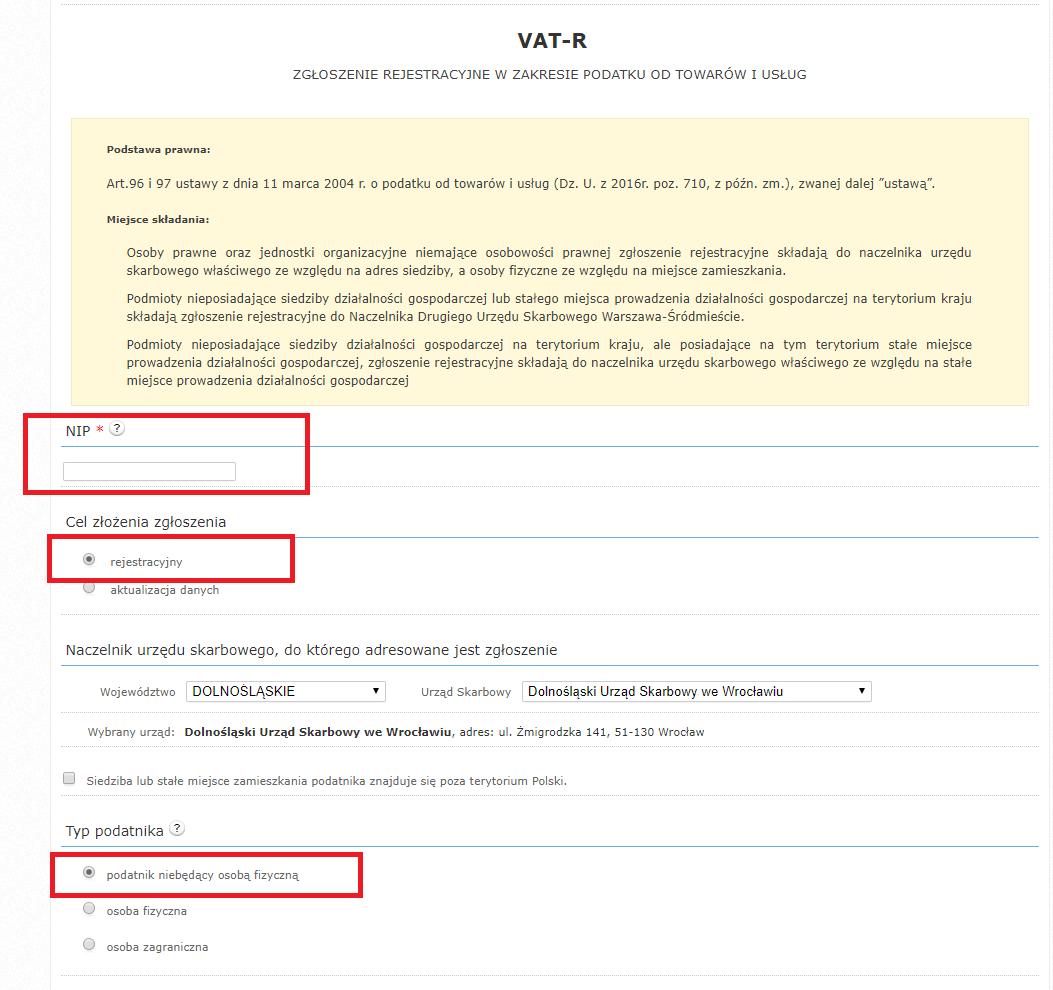 4d25735ed5426b Jeżeli podmiot nie posiada siedziby na terenie Polski należy zaznaczyć  checkbox Siedziba lub stałe miejsce zamieszkania podatnika znajduje się  poza ...
