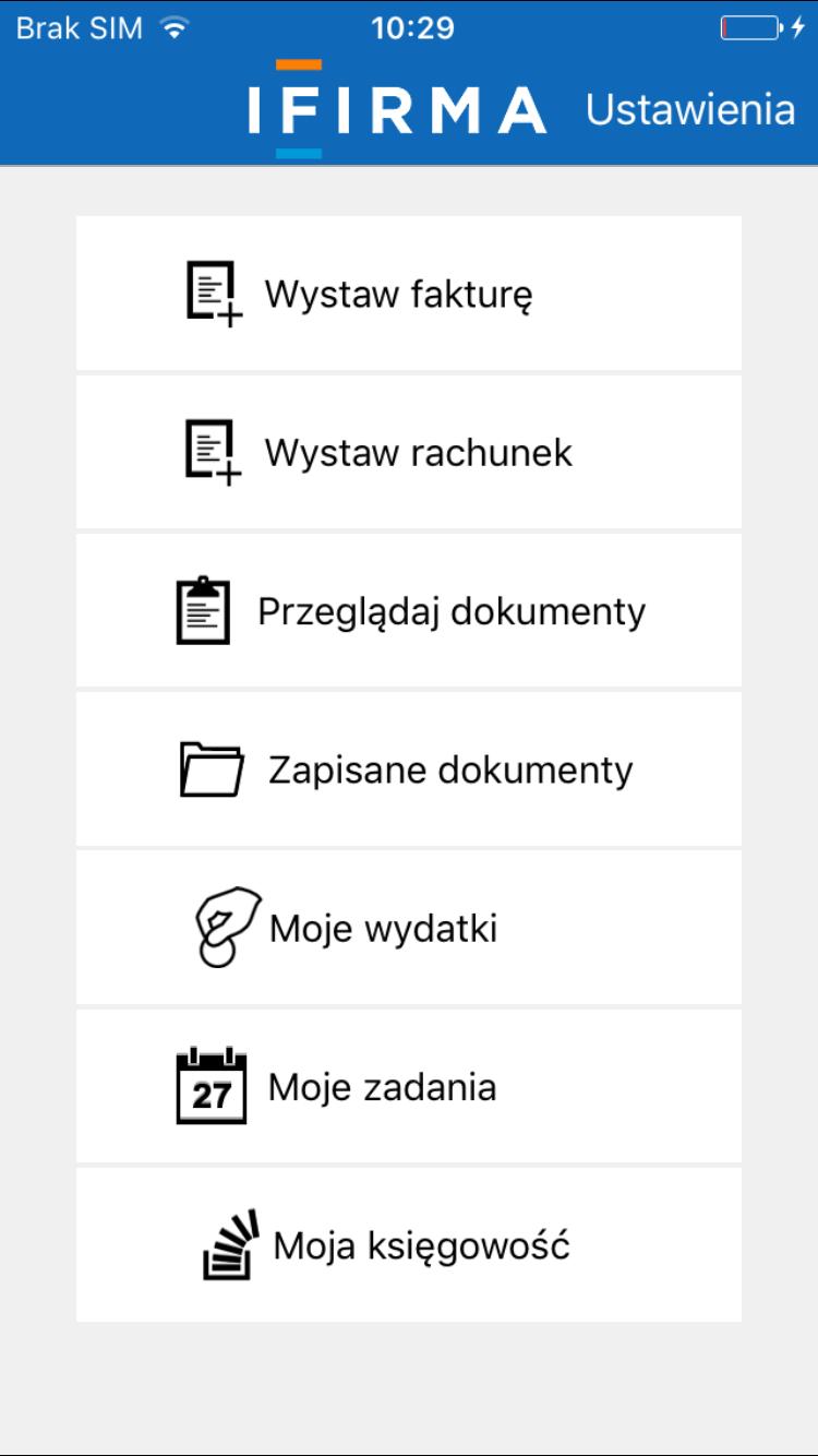 biuro rachunkowe online, przekaz dokumentów, iOS