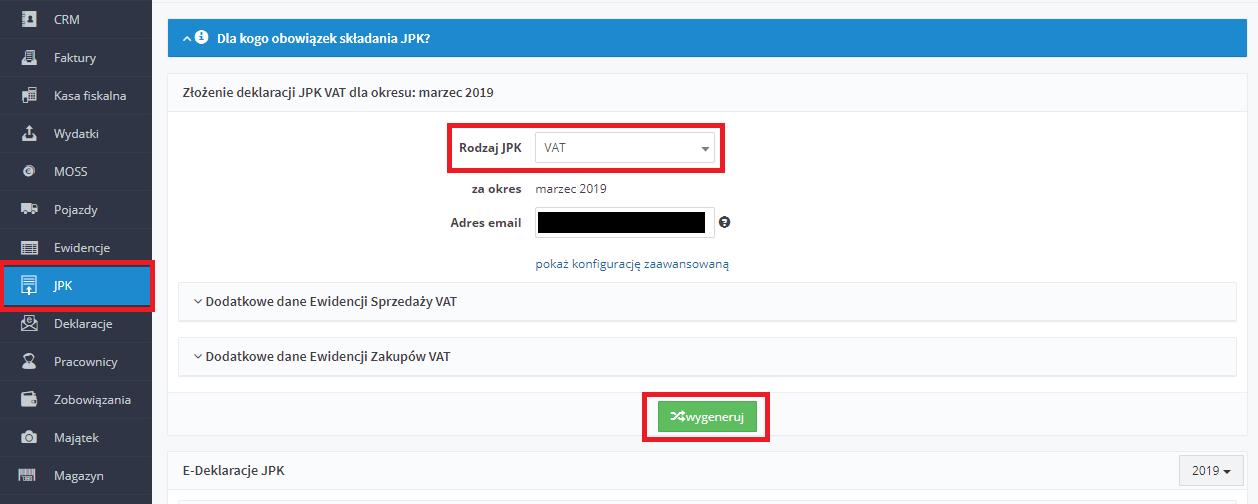 e522e1f321ae73 Serwis przeniesienie Użytkownika do następnej strony, gdzie z czterech  dostępnych wariantów wysyłania plików JPK, należy wskazać wariant: Podpis  przychodem, ...
