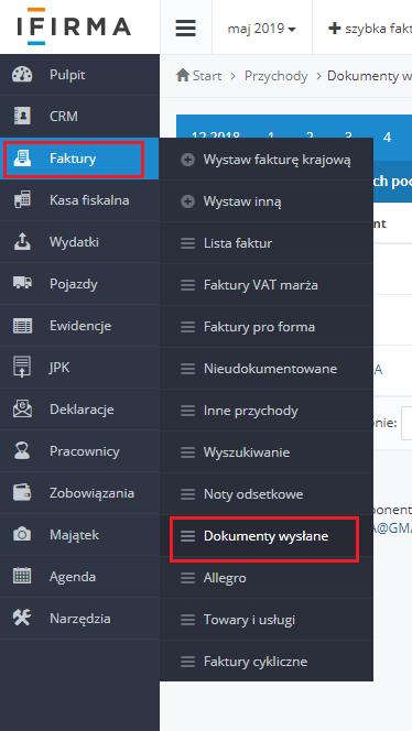 cb7fe1255bcda5 Wysyłanie faktur pocztą z serwisu - Pomoc serwisu ifirma.pl - Pomoc ...